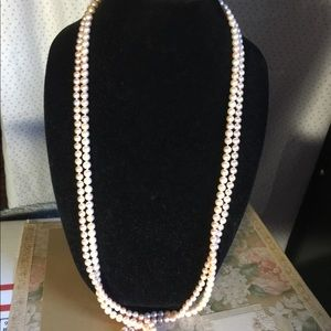 Jewelry - 2 pink pearl necklaces